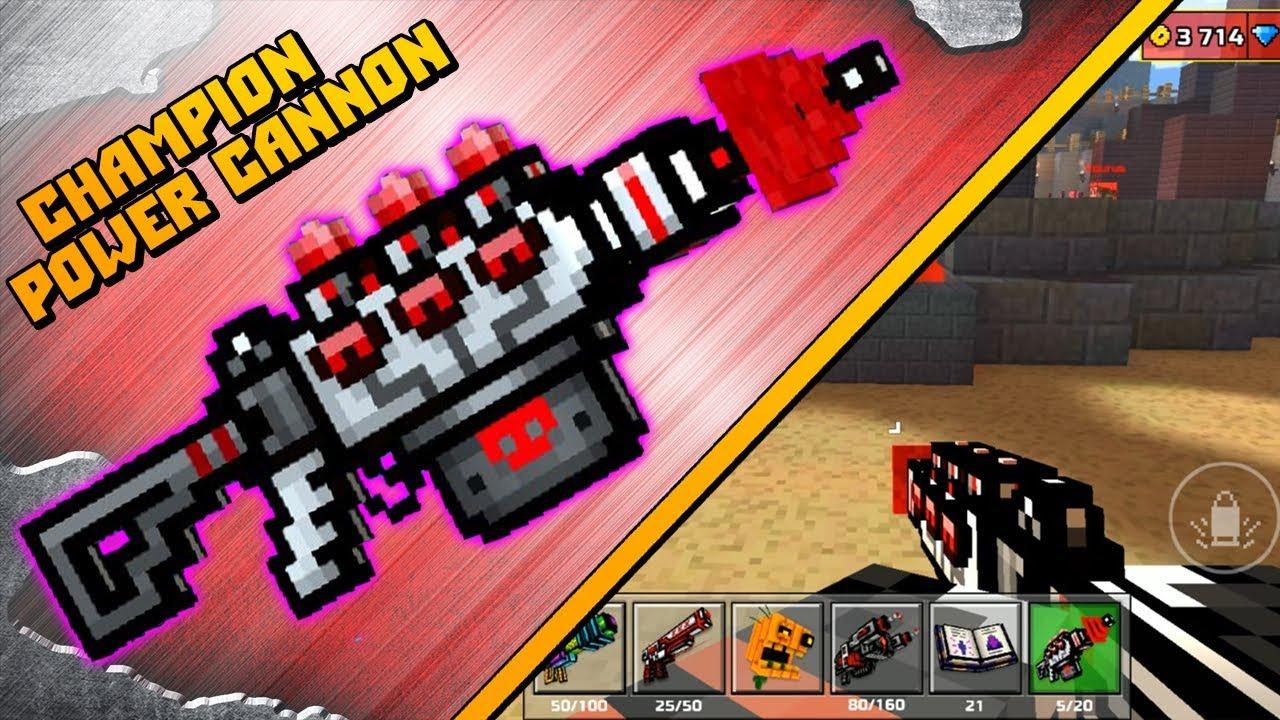 nieźle dobry sklep w Wielkiej Brytanii Pixel Gun 3D - Champion Power Cannon [Review]
