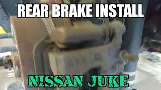 rear brake pad and rotors install Nissan juke