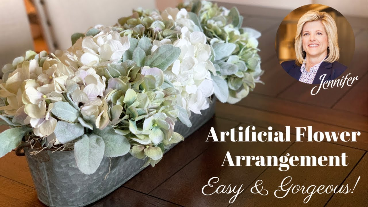 How To Make An Artificial Flower Arrangement Youtube