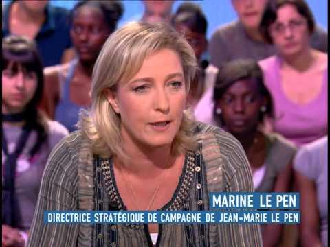 Marine Le Pen invitée du grand journal sur Canal+ le 17/04/2007