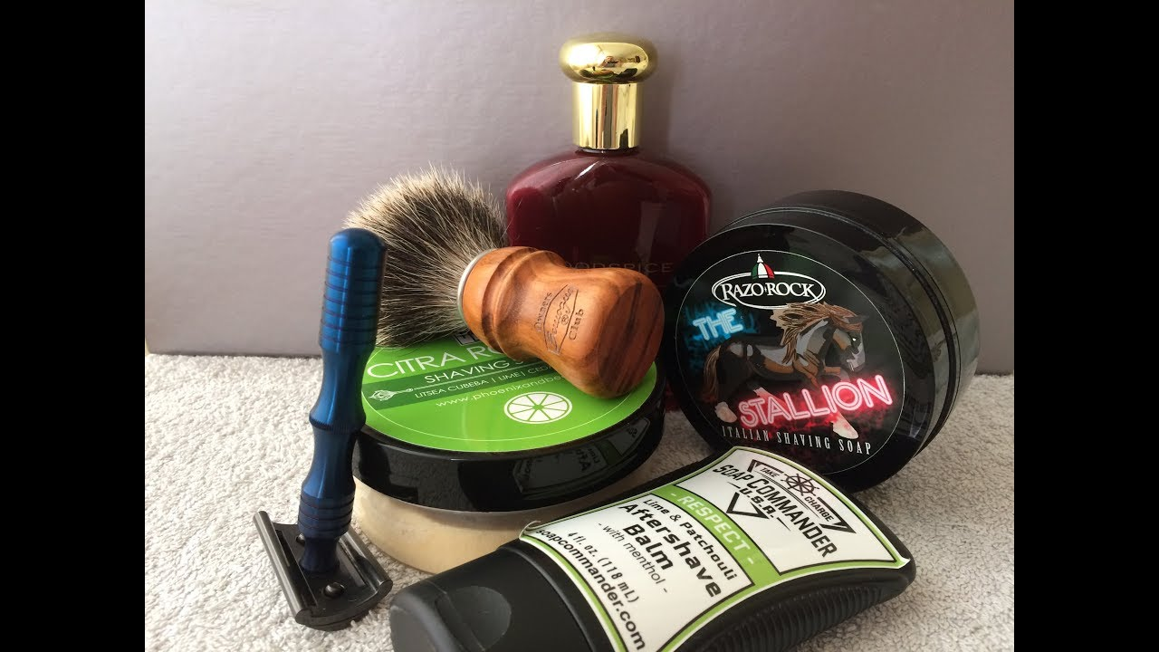 maggard slant razor oud lime shave soap semogue o c two band