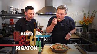 Baked Rigatoni w/Italian Sausage, Summer Tomatoes, \u0026 Eggplant..plus, Juicy Peaches w/Amaretto Toffee