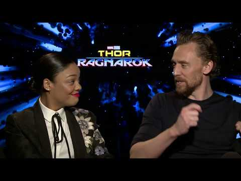 Thor Ragnarok Official Interview - Tom Hiddleston & Tessa Thompson