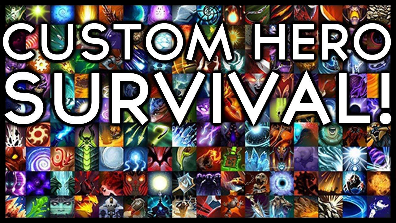 Дота 2.Кастомная игра Custom hero survival reborn.