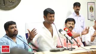 Vishal's first target to vanish Piracy on Cinema   emotional speech after his victory