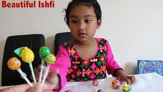 Toddler Play Time with Candy Lollipop | Beautiful Ishfi part 2