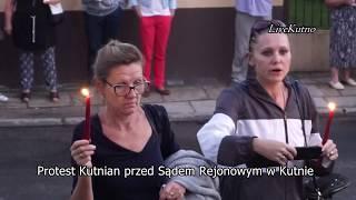 Protest w Kutnie przed Sądem Rejonowym