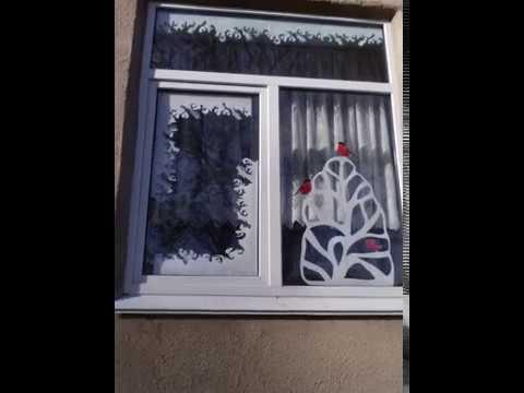 Как украсить окна на новый год 2017