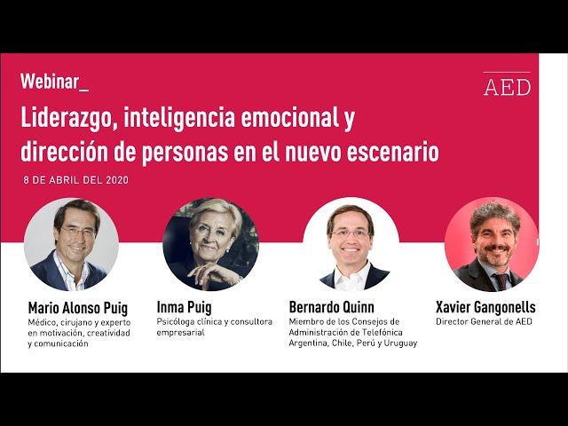 Webinar: Liderazgo, inteligencia emocional y dirección de personas en el nuevo escenario