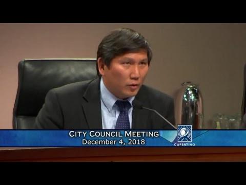 Cupertino City Council Meeting - December 4, 2018