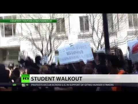 Students stage walkout to protest education cuts