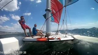 TopCat F2 Catamaran sailing accident