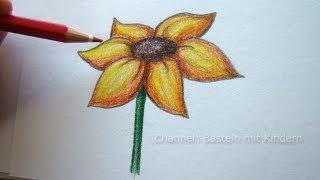 Zeichnen lernen: Blume zeichnen - Blumen malen lernen