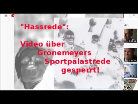 Ist Grönemeyer ein Nazi? Kritisches Video über Grönemeyers Sportpalast-Rede bleibt gesperrt!