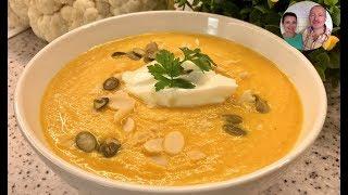 Суп-пюре из Морковки и Цветной Капусты! ПП Суп! Очень Вкусно и Полезно!