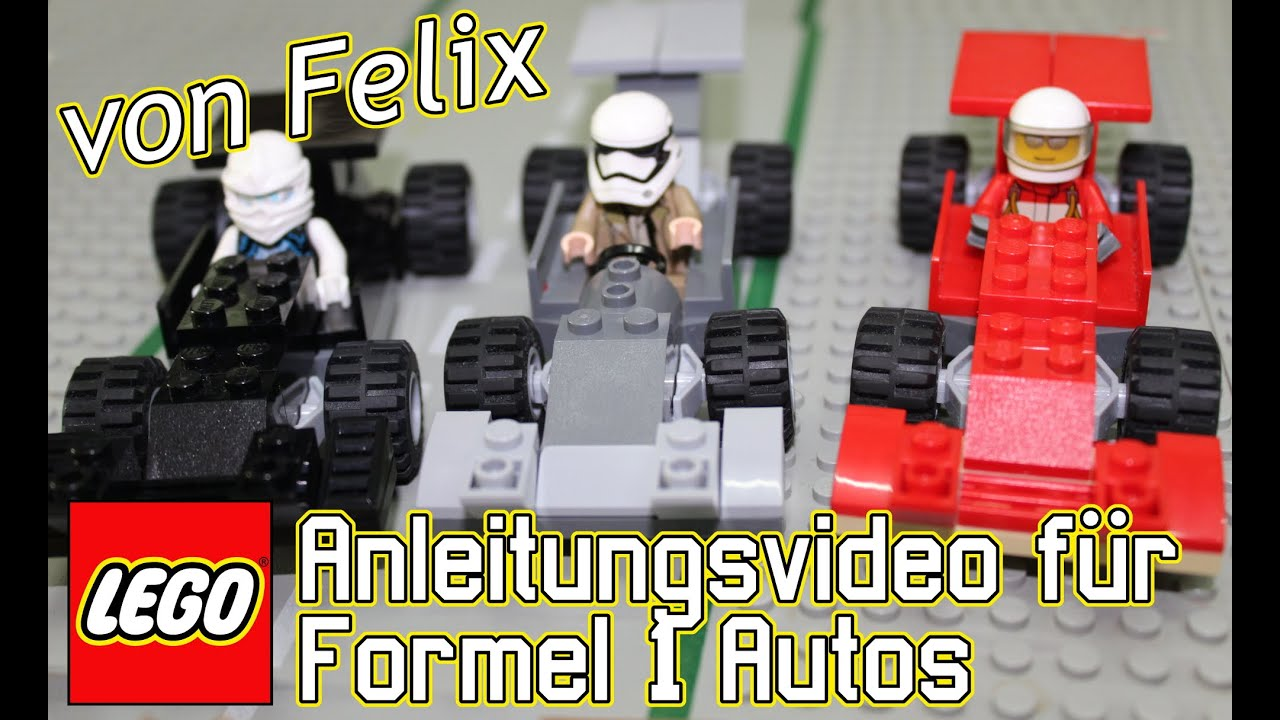 LEGO Bauanleitung Formel1 Autos - YouTube