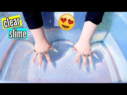 DIY Super Clear Slime! How to Make the Clearest Thick Slime Ever