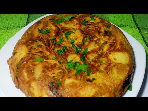 Tortilla paisana o española muy facil. Tortilla de patatas