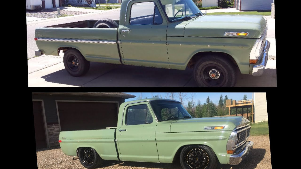 Pro touring style Ford F100 Build  Before and after