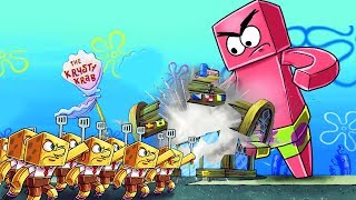 Minecraft - SPONGEBOB BASE CHALLENGE: Krusty Krab Defense! (Patrick.EXE)