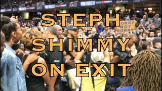 Steph Curry shimmy leaving court to tunnel + more views courtside from 2018 NBA Finals G4