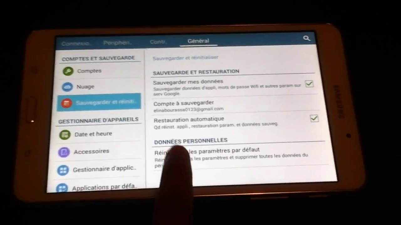 Comment formater une tablette samsung galaxy tab4 youtube for Tablette samsung