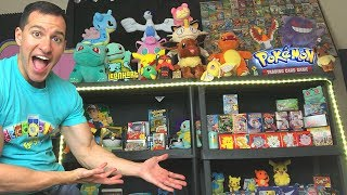 MY GAMING/POKEMON CARDS STUDIO TOUR! *insane collection*
