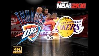 NBA 2K10 : OKC Thunder vs. Los Angeles Lakers | 4K | PC Gameplay