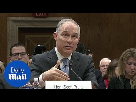 EPA chief Scott Pruitt grilled by Senators over ethics scandals - Daily Mail
