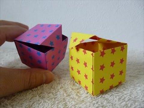 ... 箱」折り方・作り方 How to make a : 箱 折り方 折り紙 : 折り方