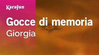Karaoke Gocce di memoria - Giorgia *