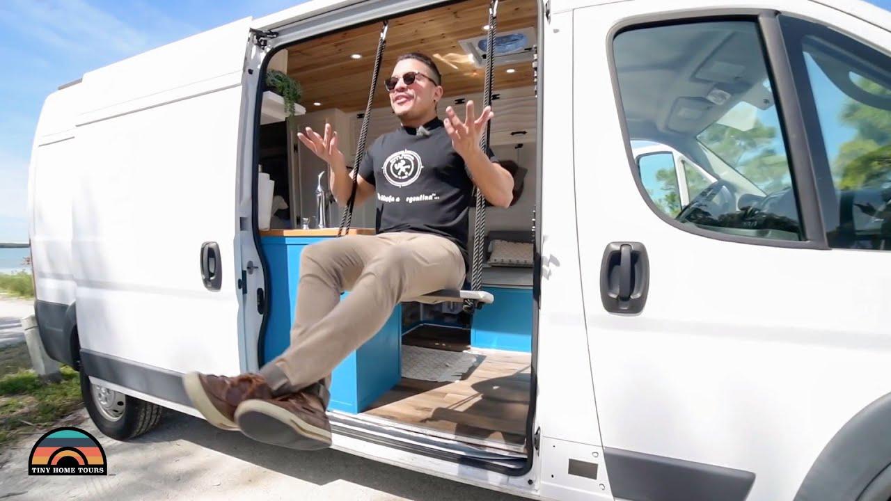 Perfectly Designed Promaster Camper Van - Full Closet, Toilet & Shower