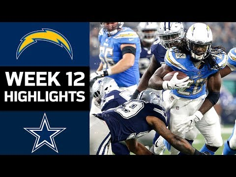 download Chargers vs. Cowboys | NFL Week 12 Game Highlights