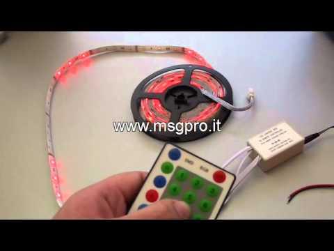 Striscia a led adesiva rgb con telecomando buon prezzo for Striscia led adesiva