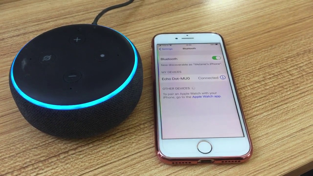 How to pair iPhone with Amazon Echo Dot and use it as a Bluetooth speaker