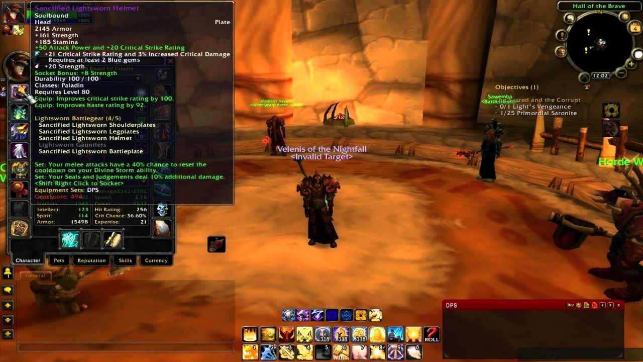 Guide for PvE Retribution Paladin 3 3 5