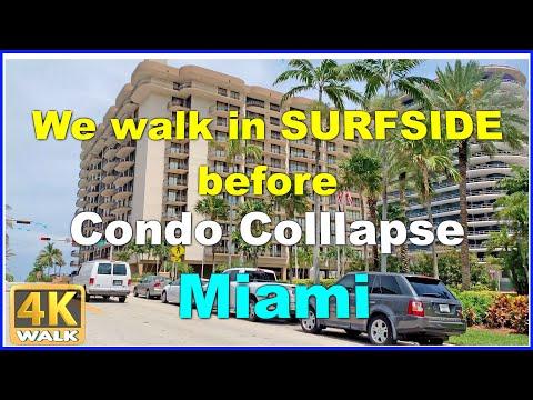 【4K】WALK SURFSIDE Walking Tour Miami Beach 4k Florida USA 2019 Documentary Dji Osmo Mobile 2 Walk