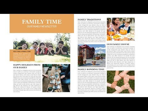 Indesign Tutorial: How To Create Family Newsletter In Indesign