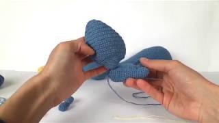 Дракон крючком. Вязаный динозавр. Дракон. Crochet dinosaur. Crochet dragon. (Урок 4 Ножки)