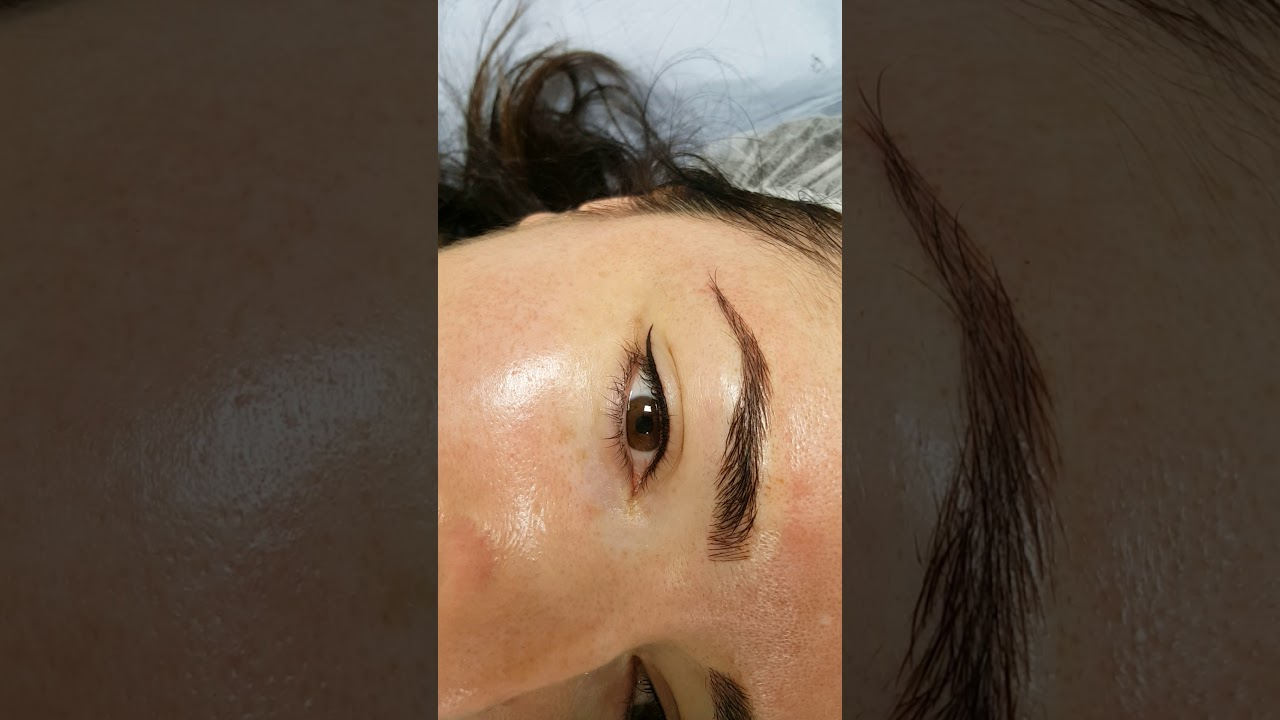 Eyeliner Cosmetic tattoo + Microbladed Eyebrows by El Truchan @ Perfect Definition