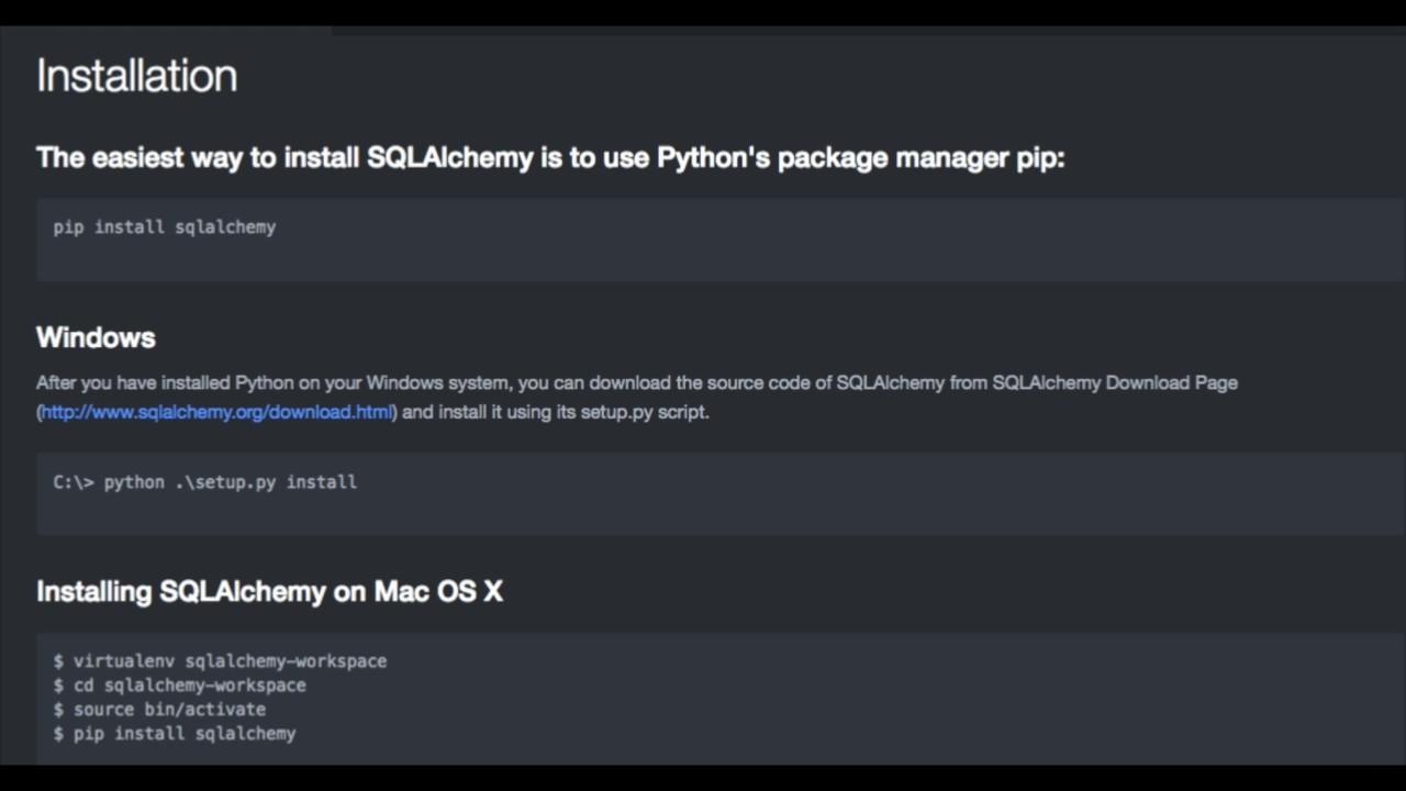 Tutorial 2 : Installation of Python SQLAlchemy ORM