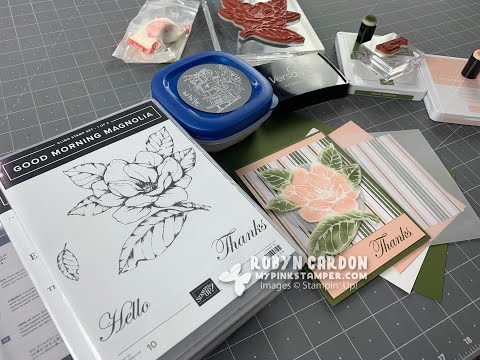 Stampin' Up! Good Morning Magnolia Embossed Card - EPISODE SEVEN HUNDRED & THREE