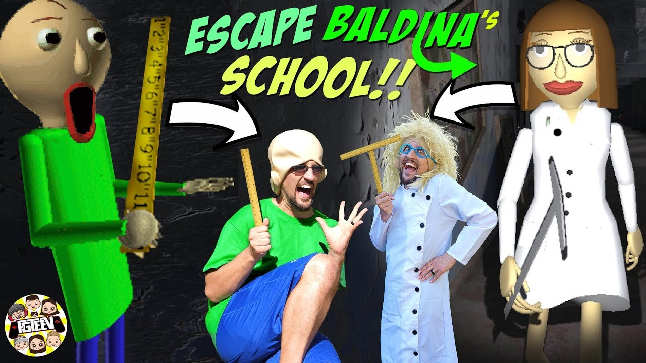 BALDI loves BALDINA! ❤️ Escape her Creepy School!  (FGTEEV GameplaySkit)