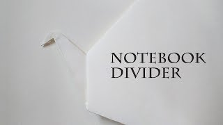 How to Make a Notebook Divider - Swan Style | Partition in Notebook