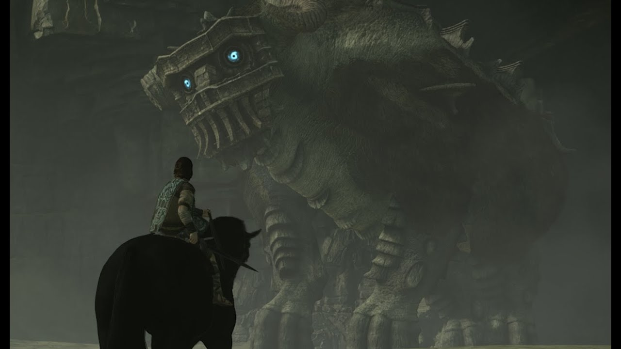 Fighting the Second Colossus in Shadow of the Colossus (Captured in 4K)