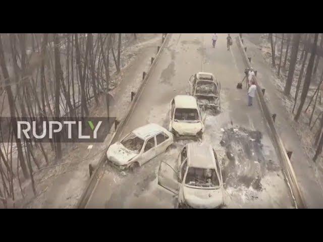 Portugal: Drone captures the devastation of deadly Pedrogao Grande forest fires