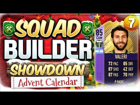 FIFA 18 SQUAD BUILDER SHOWDOWN!!! TEAM OF THE SEASON VALERI!?! Advent Calendar Day 7 Vs TheoBaker