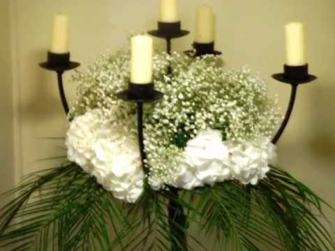 Wedding Church and Hotel Floral Arrangements - YouTube