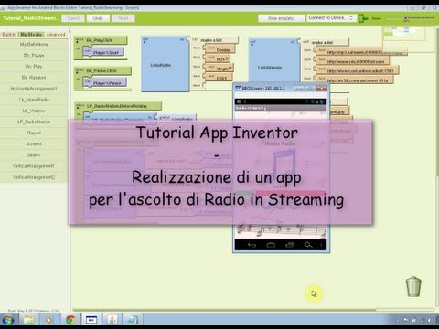 Tutorial - Creazione di App per Radio in Streaming con Android App Inventor