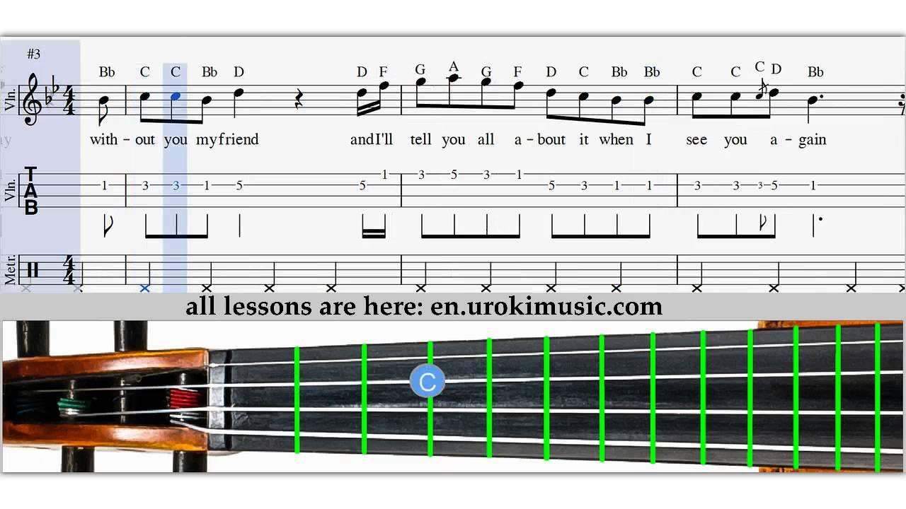 Wiz Khalifa - See You Again - How To Play Violin - Sheet Music ...